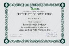 Adobe Premiere Pro - Certificate by Aula.bg