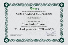 HTML5 & CSS3 - Certificate by Aula.bg