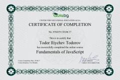 JavaScript - Certificate by Aula.bg