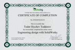 SolidWorks - Certificate by Aula.bg