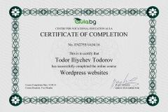 WordPress - Certificate by Aula.bg