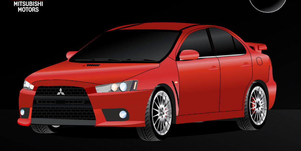 Mitsubishi - Lancer ///Evo X / 2010 (Быстрое искусство)